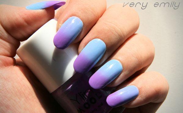 Born Pretty Magic Purple Sky Blue Color Changing Mood Nail Polish