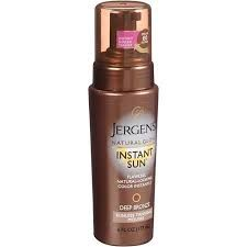 Jergens Natural Glow Instant Sun (Deep Bronze) Sunless Tanning Mousse