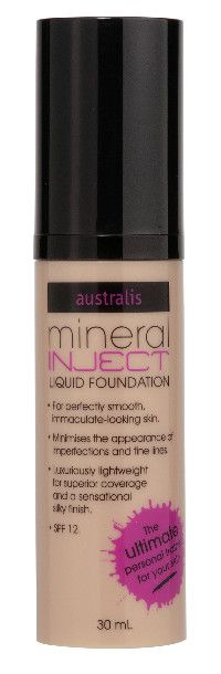 Australis Mineral Inject Liquid Foundation SPF12