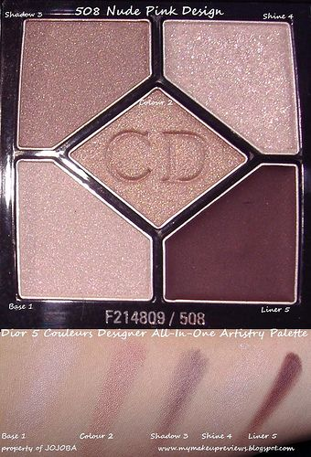 Dior 5 Couleurs Designer All-In-One Artistry Palette - Nude Pink Design 508