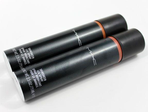 mac skinsheen leg spray swatch
