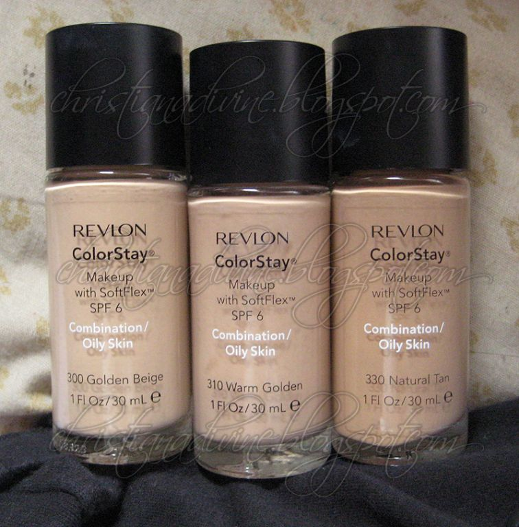 Revlon colorstay makeup with softflex spf 6 for combination oily skin