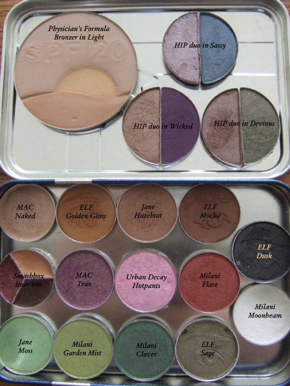 Depotted HIP Jane, MAC, Milani, UD and ELF palette (Uploaded by Momma2myQTZ)