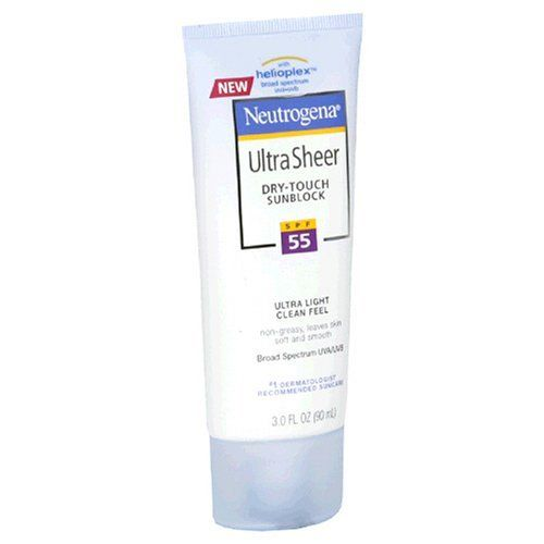 Neutrogena Ultra Sheer Dry Touch Sunblock SPF 55 Reviews Photos