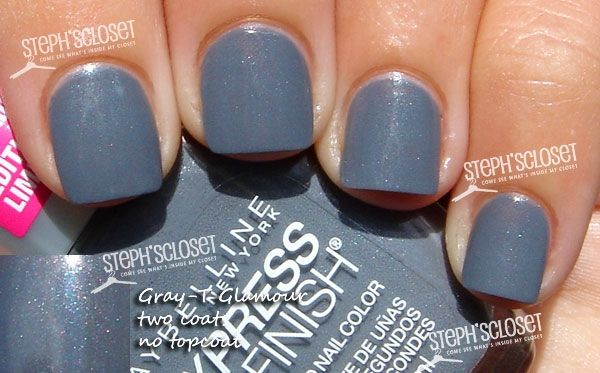 Maybelline New York Express Finish 50 Second Nail Color In Gray T