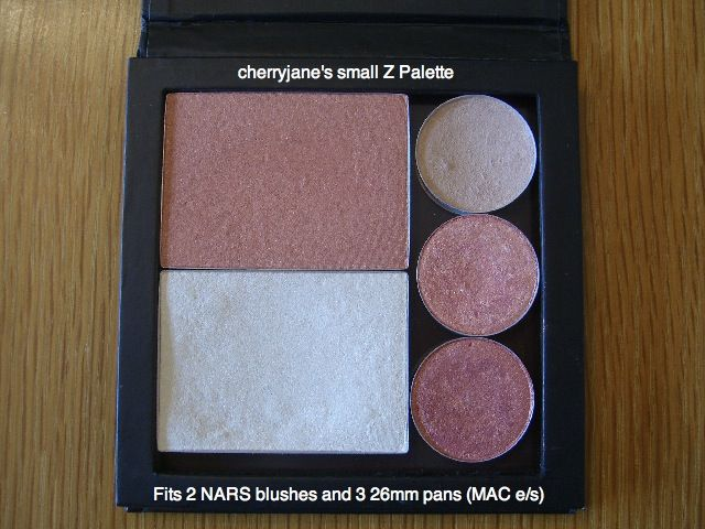 Small z palette with 2 nars blushes 3 mac e s
