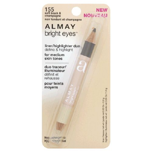 Almay Bright Eyes Liner/Highlighter Duo Soft Black/Champagne