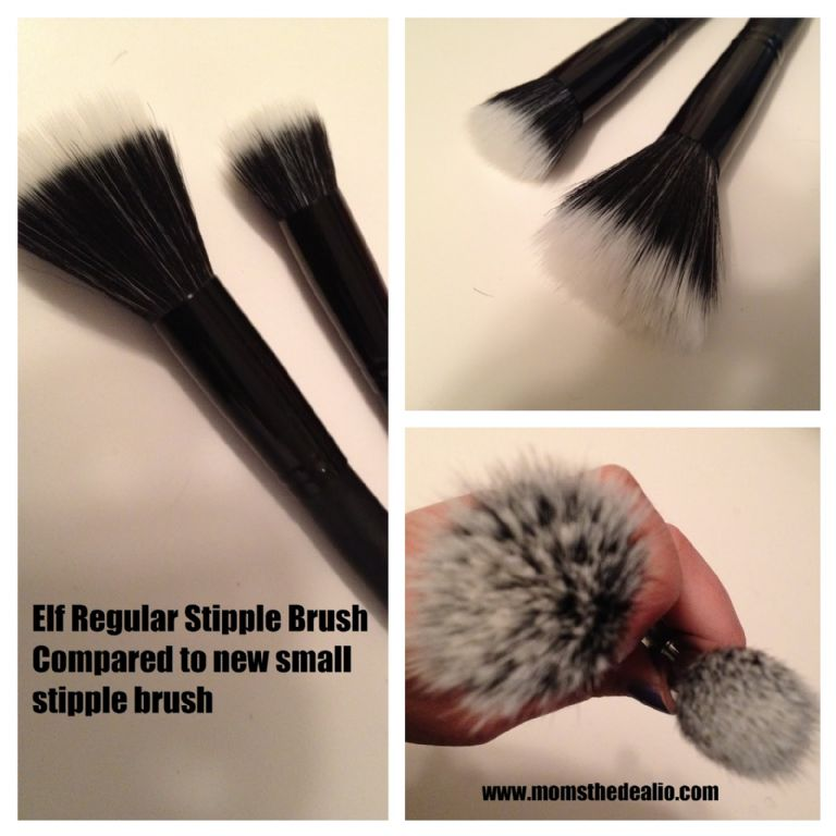 stippling brush vs foundation brush. studio small stipple brush stippling vs foundation