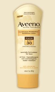 Aveeno Active Naturals Continuous Protection Sunblock Lotion - Face SPF 30