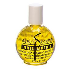 Beauty Secrets Nail Matrix Cuticle Oil and Instant Polish Dryer