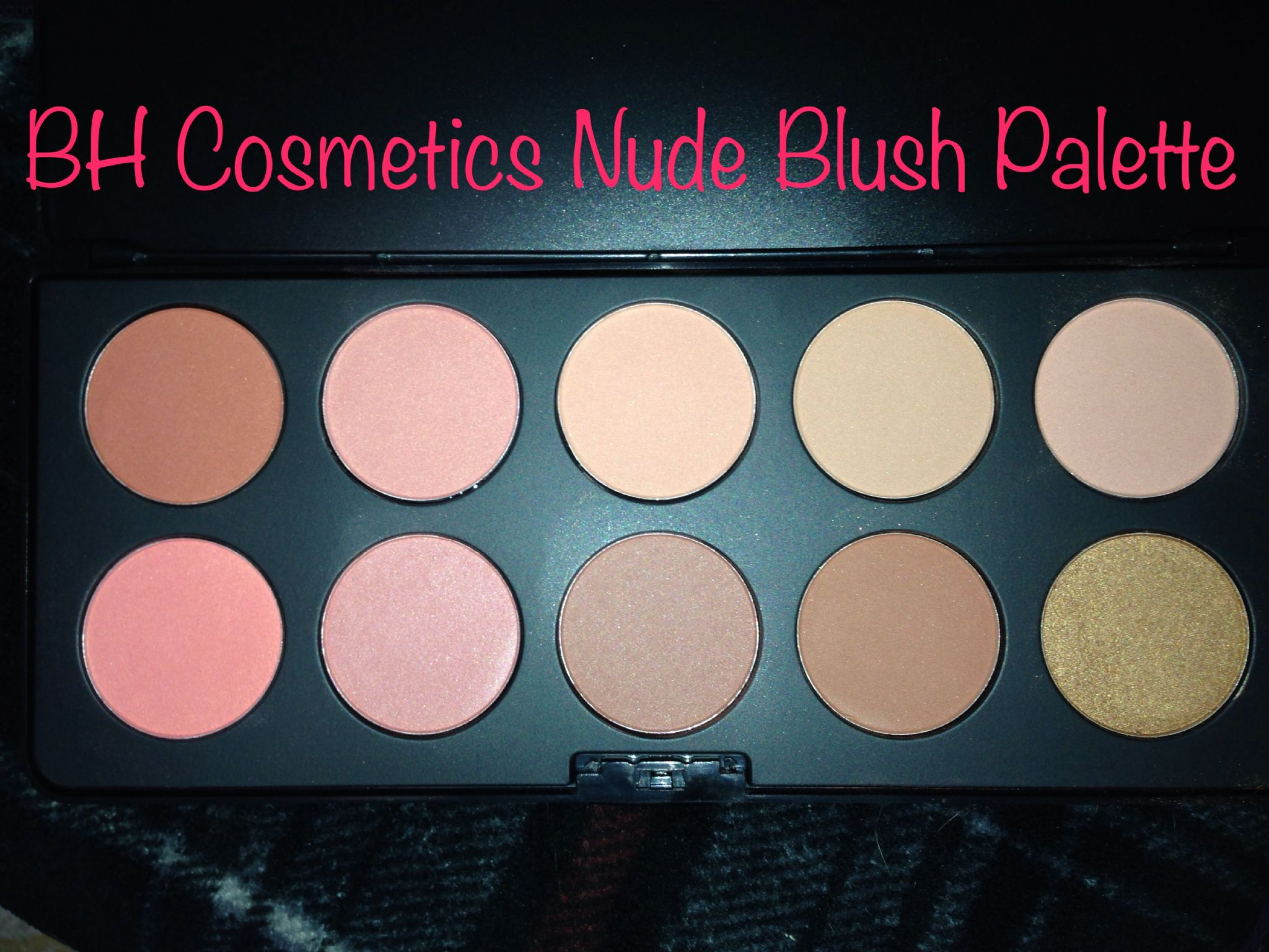BH Cosmetics 10 Color Nude Blush Palette - YouTube
