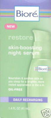 Biore skin boosting night serum