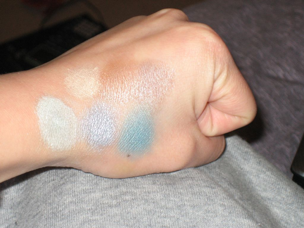 NYX Trio Swatches Top TS 19 Bottom TS 23 w Flash (Uploaded by jopolyn)