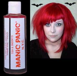 Manic Panic Temporary in Vampire Red