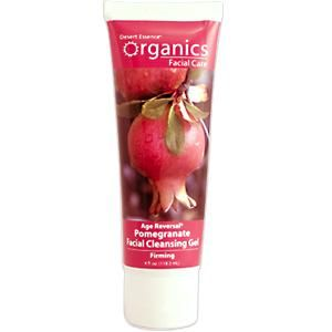 Desert Essence Age Reversal Pomegranate Facial Cleansing Gel, Firming