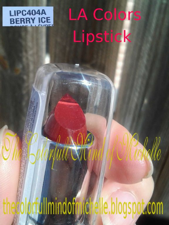 L.A. Colors lipstick in berry ice