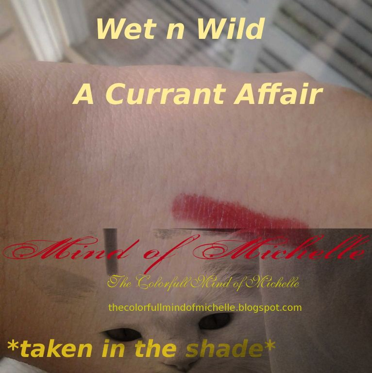 Wet 'n' Wild Megashield lipstick- A Currant Affair