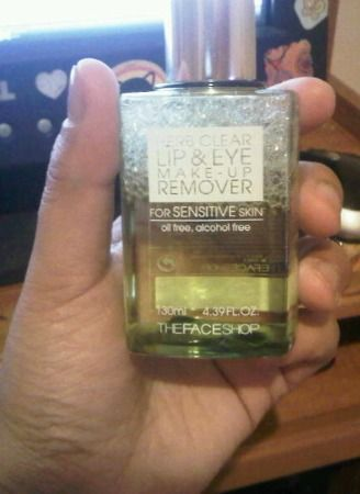 TheFACEShop Herb Clear lip and eye makeup remove