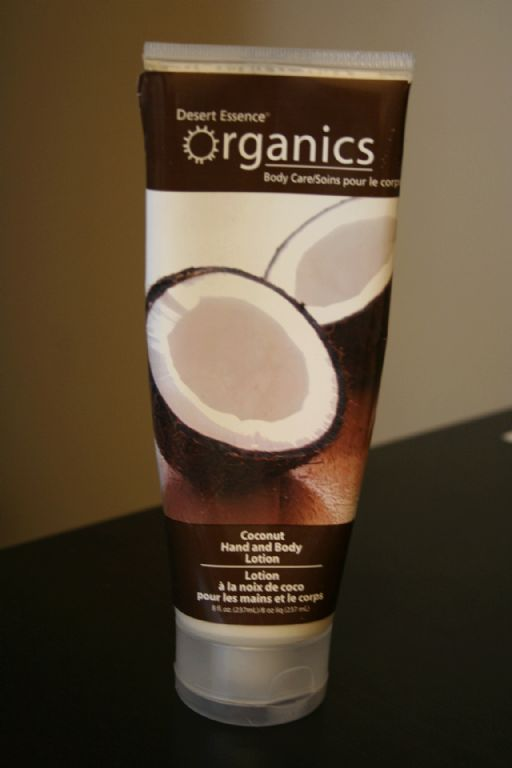 Desert Essence Organics hand and body lotion-coconut