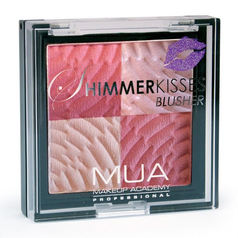 Shimmer Kisses Blusher In Pink