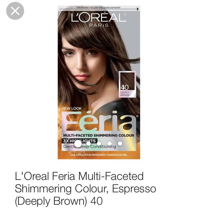 Loreal Feria Hair Color In Espresso Deeply Brown Reviews Photos