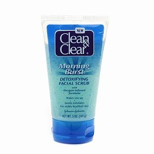 Clean & Clear Morning Burst Detoxifying Facial Scrub For Clear Skin , 5 Fl. Oz. Hyaluronic Serugel Age Defying Facial Moisture Boost - 1 fl. oz. by DeVita (pack of 3)