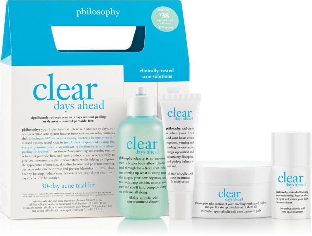 Philosophy Clear Days Ahead Acne Trial Kit Reviews Photos