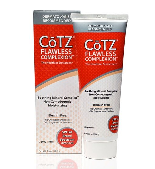 Cotz flawless complexion sunscreen