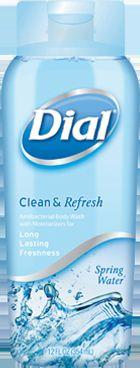 Dial antibacterial body wash-Spring water