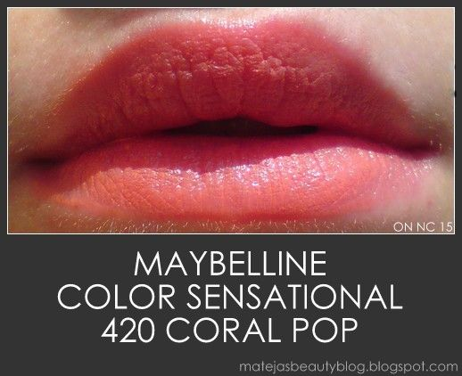 Maybelline Color sensational - coral pop