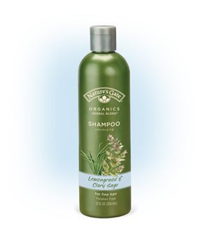 Nature's Gate Organics Lemongrass & Clary Sage Sulphate-Free Volumizing Shampoo for Fine Hair
