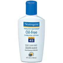 Neutrogena Healthy Defense Oil-Free Sunblock Lotion SPF 45