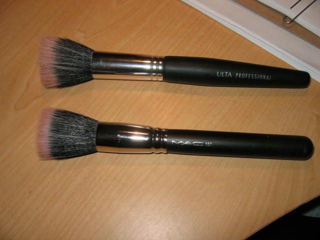 mac face brushes. brush ulta top, mac bottom mac face brushes
