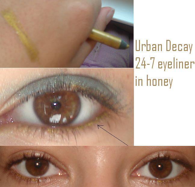 Urban Decay 24-7 eyeliner in honey (Uploaded by tatlicupcake)