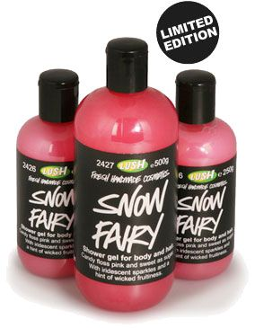 LUSH Snow Fairy Shower Gel