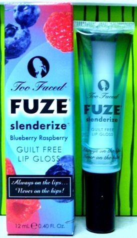 Too Faced Fuze Slenderize Blueberry Raspberry Guilt Free Lip Gloss
