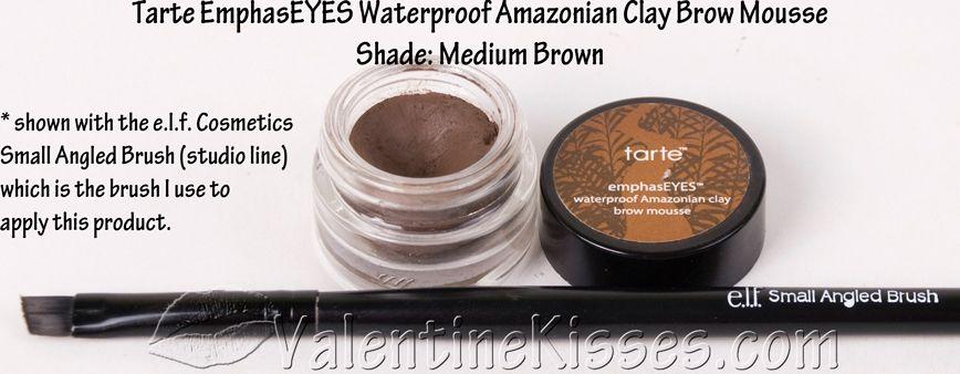 Tarte Amazonian Clay Waterproof Brow Mousse & Brow Brush reviews ...