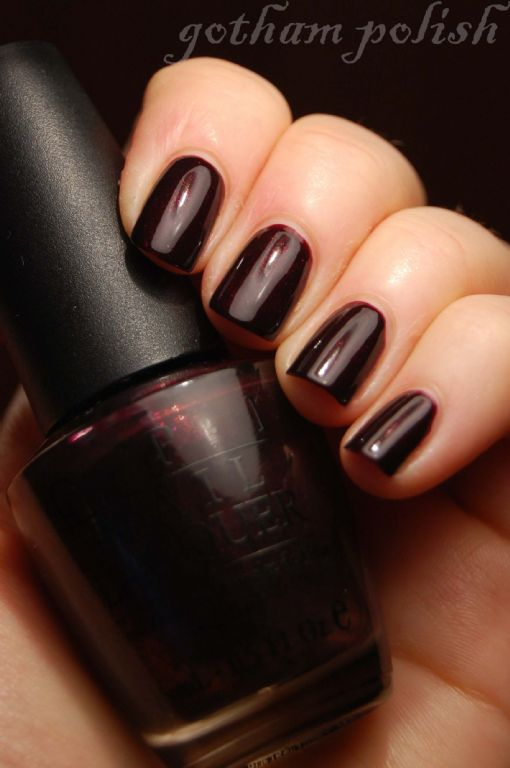 Opi Nail Lacquer Black Cherry Chutney Reviews Photos