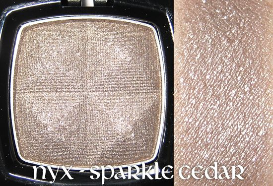 NYX Single Eye Shadow - Sparkle Cedar