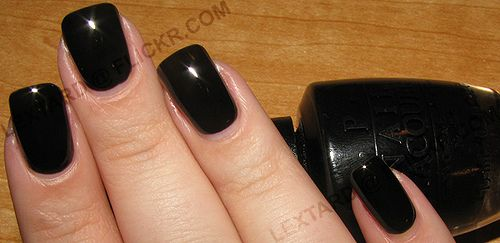 OPI Nail Lacquer - Black Onyx reviews, photos Sorted by Date Oldest ...