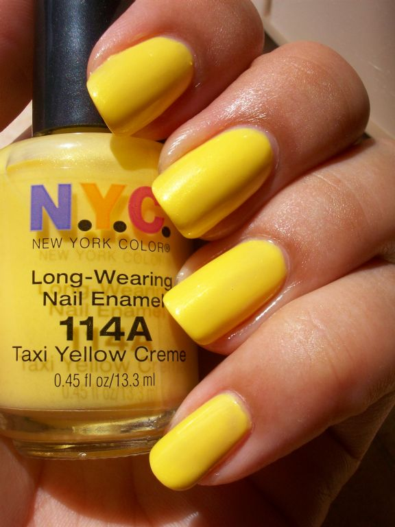New York Color Long Wearing Nail Enamel -  Taxi Yellow Creme 114