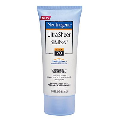 Neutrogena ultra sheer dry touch sunblock spf 70 review