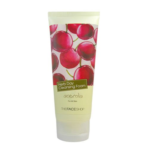 TheFACEShop Herb Day Cleansing Foam, Clarifying Acerola