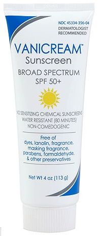 Vanicream Sunscreen Broad Spectrum SPF 50+