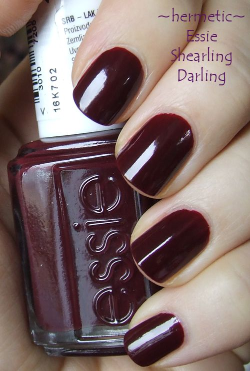 Loving Essie S Red Wine Recessionista For Fall Y Pinterest Plum Colour Wines And