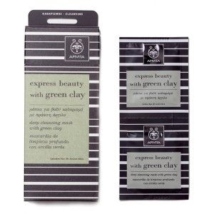 Apivita Express Deep Cleansing Face Mask with Green Clay