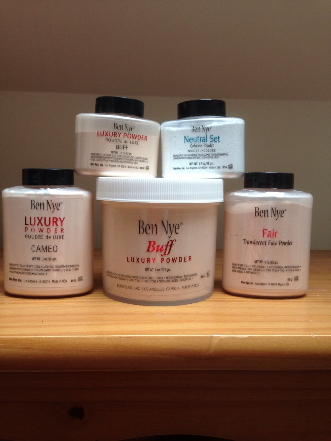 My lovely Ben Nye Powders (Uploaded by smkmacca)