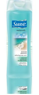 Suave Naturals Moisturizing Body Wash in Ocean Breeze