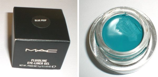 MAC blue peep fluidline (Uploaded by snickersforswatches)