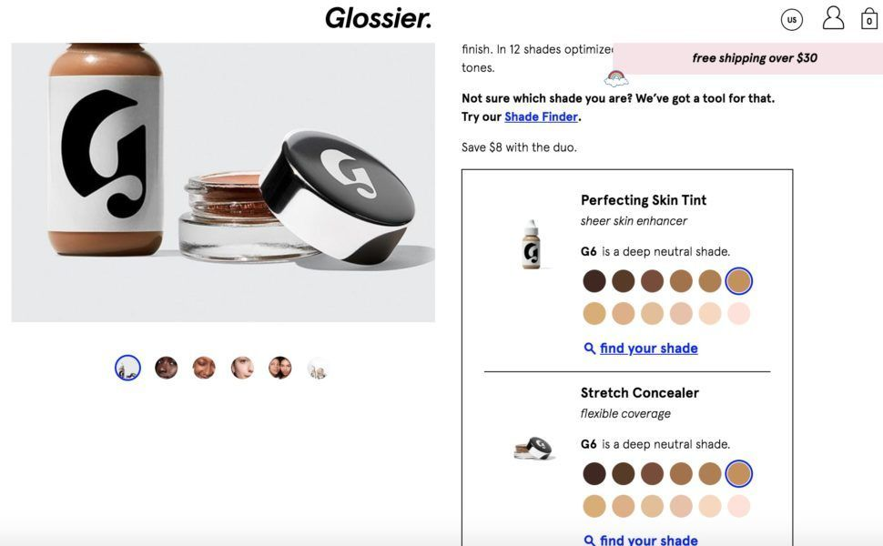 Perfecting Skin Tint + Stretch Concealer Duo by Glossier #19